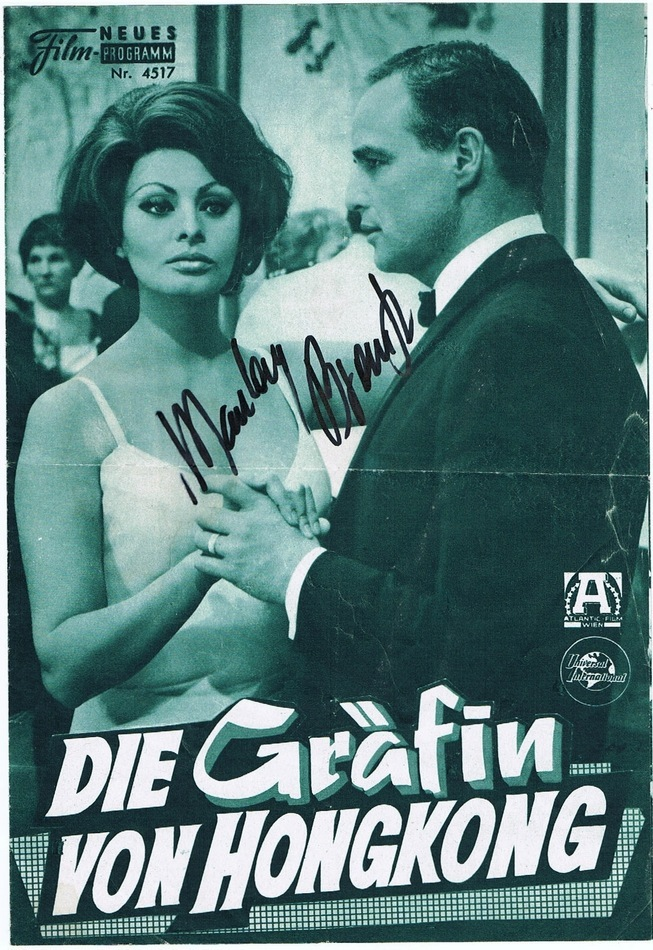 Marlon Brando Autograph. Signed Movie Program
