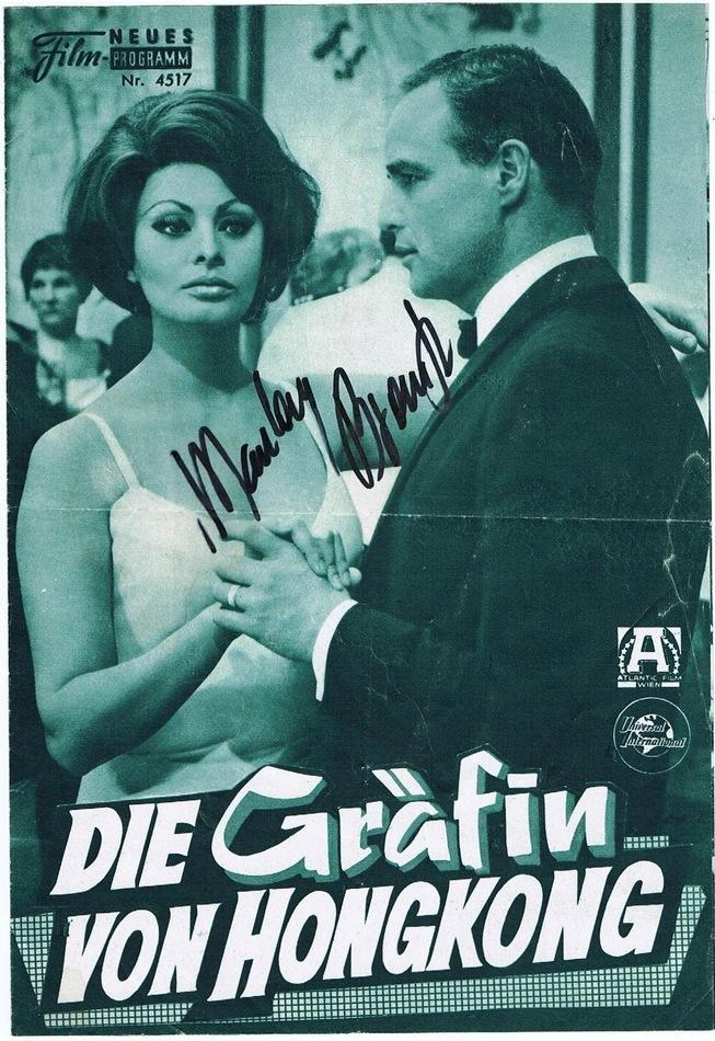 Marlon Brando Autograph Signed Movie Program CoA
