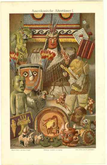 American Antiques: Decorative Graphic from 1905. 19 Objects