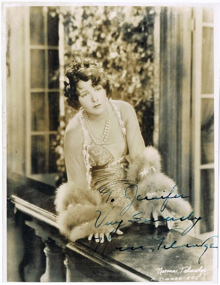 Rare Norma Talmadge Autograph on Photo. CoA 6 x 8
