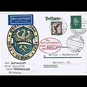 Zeppelin Postal Card Ostseerundfahrt 1931