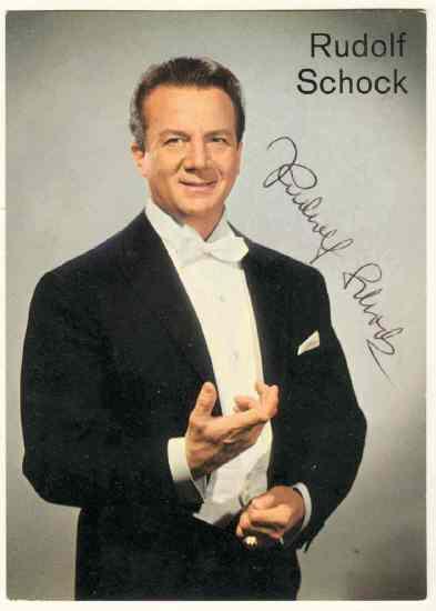 Rudolf Schock Autograph. 1960s. CoA from curioshop on Ruby Lane
