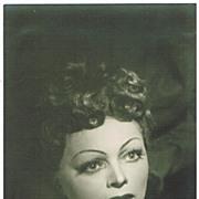 Martha Moedl Autograph 1951 Bayreuth