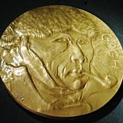 Vincent van Gogh Bronze Plaque, Artist signed