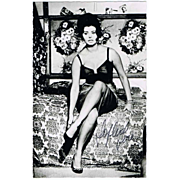 Sophia Loren Autograph: Sex Idol of the 60s. CoA