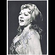 Soprano Sena Jurinac  Autograph on Photo, CoA