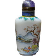 Old enameled Porcelain Snuff Bottle
