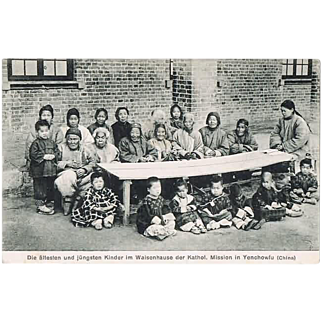 Children in the Orphanage Yenchowfu China Postcard