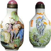 Chinese Snuff Bottle Painted Porcelain