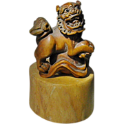 Old Japanese Toggle with Foo Lion on Ball.