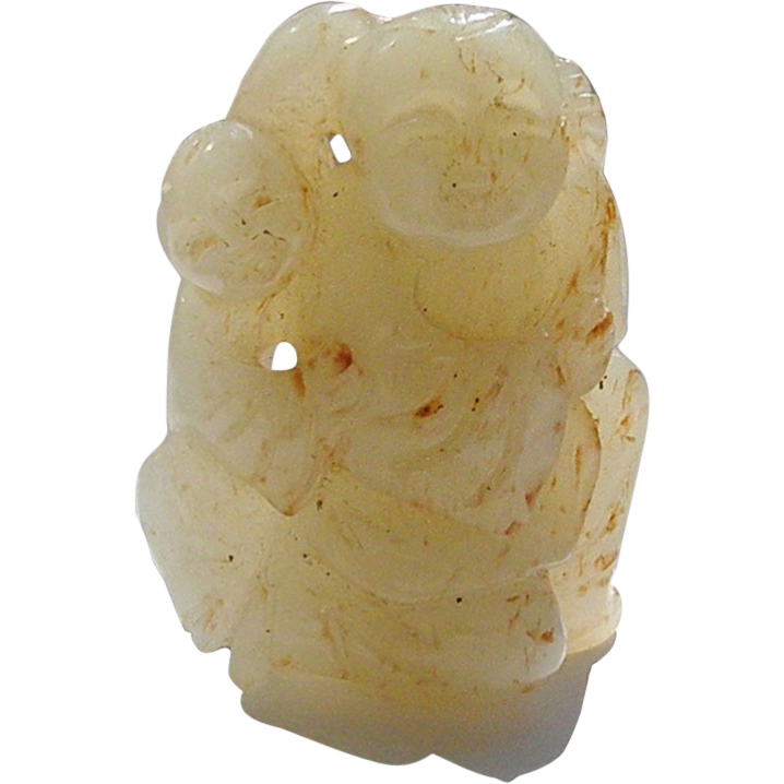 Chinese Jade Figurine with Two Boys