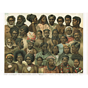1898: Minorities from Oceania: Very decorative Chromo Lithograph