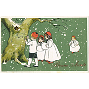 New Year Postcard with Children