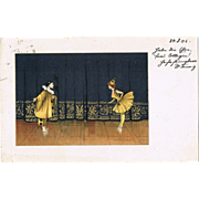 Pierrot and Pierrette vintage Postcard 1905