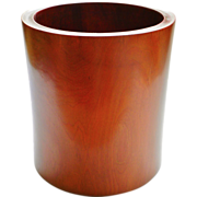 Old Chinese Brush Holder Pear Wood