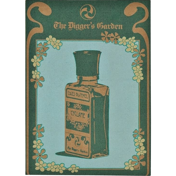 Lithographed Advertising for Blossom Oil Postcard Size