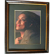 Jessye Norman Autograph, large signed Photo in Frame. COA