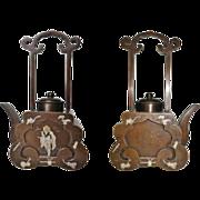 Old Chinese Bronze Wine Pot, decorative Pa Tong