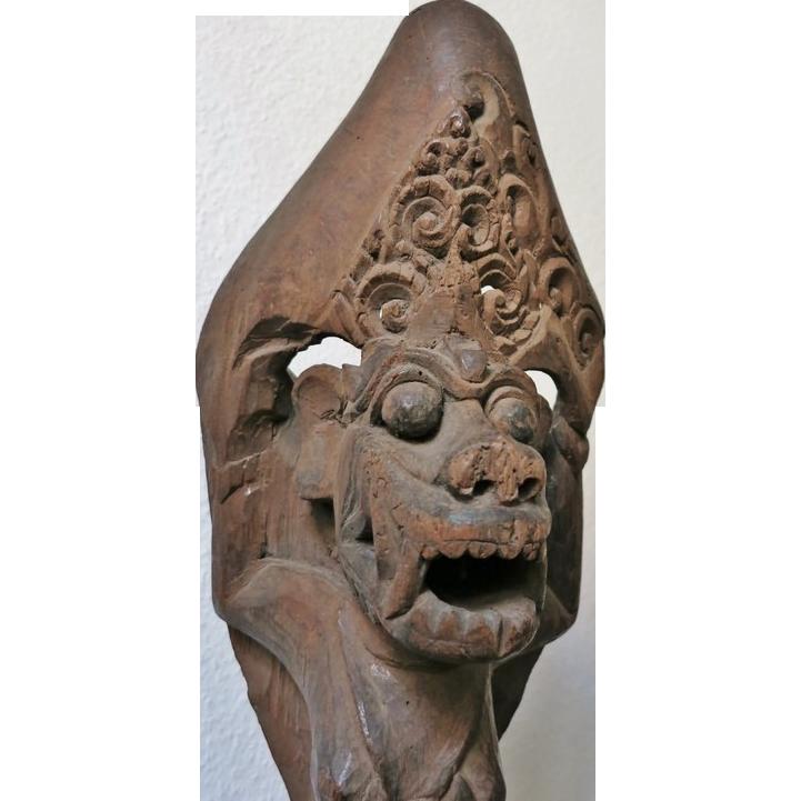 Antique Bali Wooden Sculpture. 19th Ct.