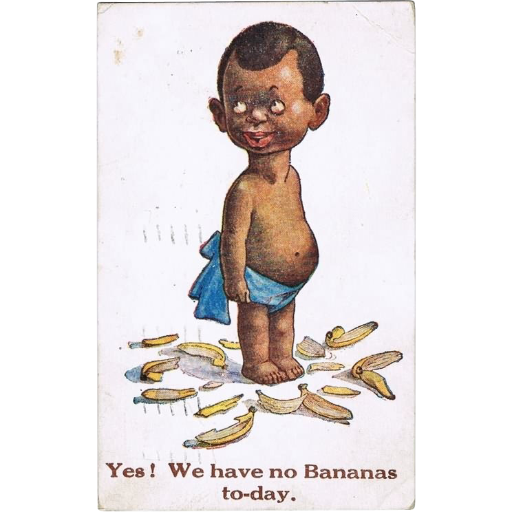 Yes! We have no Bananas. Vintage Postcard, 1923