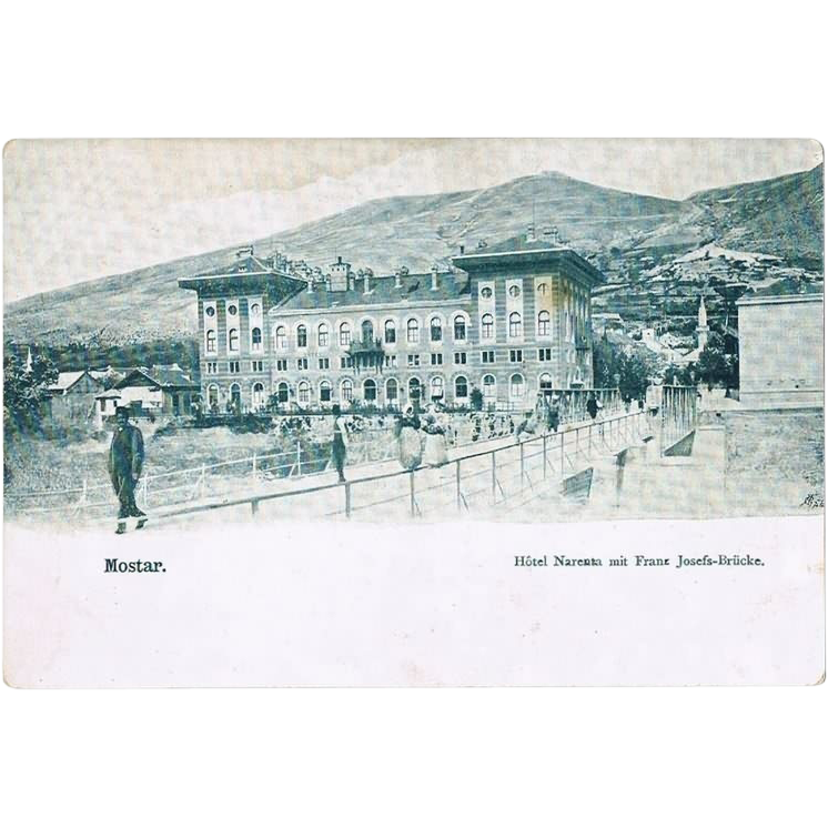 Mostar. Vintage Postcard from Bosnia. ca. 1900
