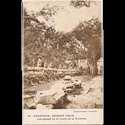 Cambodia Angkor Thom Postcard to the USA 1958