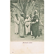 Arabian Merchants: Egyptian Vintage Postcard from 1904