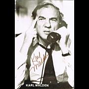 Karl Malden Autograph: Hand signed Photo. CoA