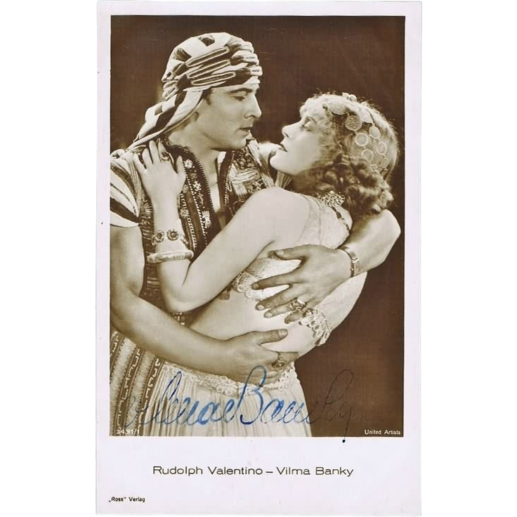 Wilma Banky Autograph: Old Ross Photo. hand-signed, CoA
