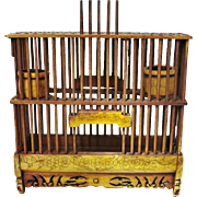 Antique Chinese Cricket Cage, Bone