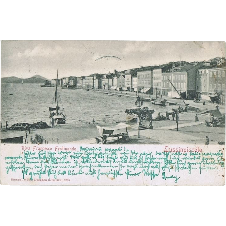 Austrian Lloyd Ship Post. Postcard