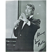 Dean Martin Autograph: 8 x 10 Photo, hand signed. CoA