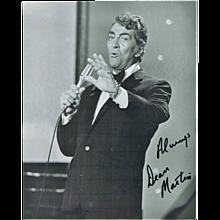 Dean Martin Autograph: 8 x 10 Photo, hand signed. CoA