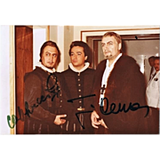 Jose Carreras and Piero Cappuccilli Autographs on Private Photo. CoA