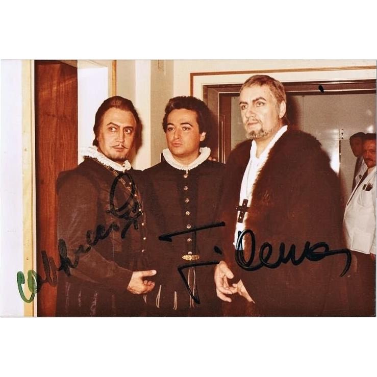 Jose Carreras and Piero Cappuccilli Autographs on Private Photo. CoA