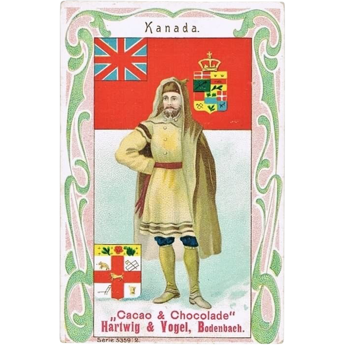 Canada Art Nouveau Chocolate Trading Card