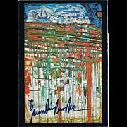 Friedensreich Hundertwasser Autograph. CoA