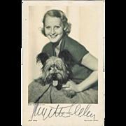 Brigitte Helm Autograph, hand signed Photo. CoA
