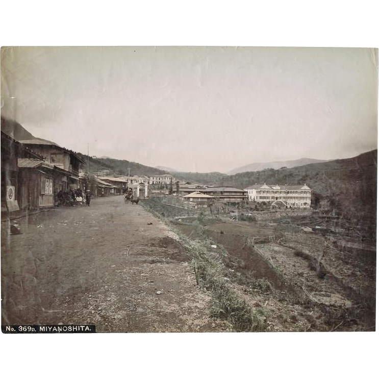 Japanese Albumen Photo from Miyanoshita.
