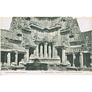 Old Cambodia Postcard Angkor Wat