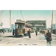 Old Shanghai Postcard Tram at Garden Bridge