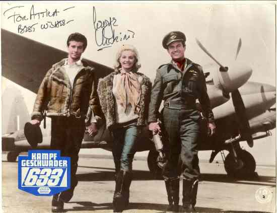 George Chakiris Autograph: Movie Still 633 Squadron. CoA