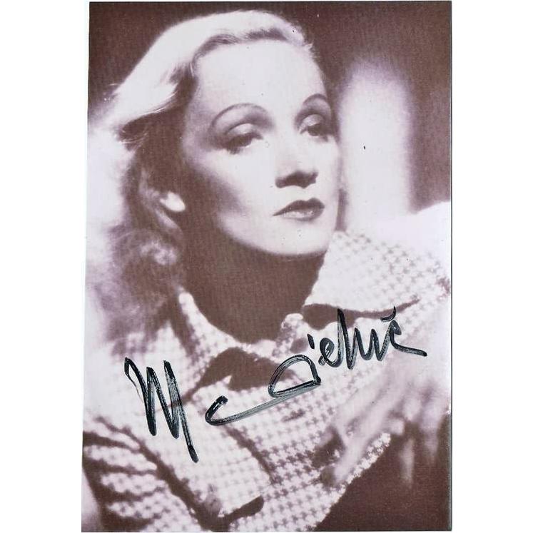 Marlene Dietrich Autograph CoA