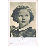 Shirley Temple Autograph. Early Signature on Ross Photo