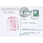 Aiship Zeppelin Mail LZ 130 Germany 1939