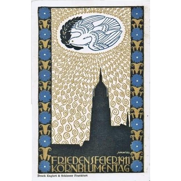 Cornflower Day 1911 Jungnickel Art Nouveau Postcard
