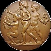 Bronze Plaque 1931. Children.