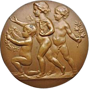 Bronze Plaque 1931. Children.