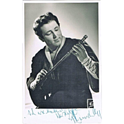 Fritz Wunderlich Autograph on Photo CoA