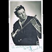 Fritz Wunderlich Autograph on Photo CoA
